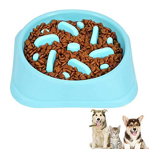 Ciotola Slow Food per Cani, Ciotola Anti Ingozzamento, Ciotola ad Alimentazione Lenta, Ciotole per Cani Lente, per Impedire ai Cani di Mangiare Velocemente e in Modo Sano (Blu)