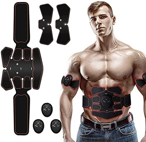 Electroestimulador Muscular Abdominales,Masajeador Eléctrico Cinturón,Estimulación Muscular Masajeador Eléctrico Cinturón Abdomen/Brazo/Piernas/Glúteos