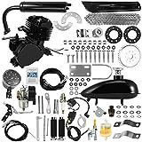Bicycle Motor KIT, 80CC 26' 28' Bicycle Engine Kit, Bike Bicycle Motorized 2 Stroke Petrol Gas Motorized Engine Motor Parts Super Fuel-EFFICIENT Bike Engine KIT with 2L Oil Tank (Black)