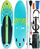 Inflatable Paddle Board, Googo 10.6'x32 x6 Light (18.5lbs) Stand up Paddleboard with Anti Air Leaking Design, Non-Slip Deck, with Sup Complete Accessories & Carrying Backpack