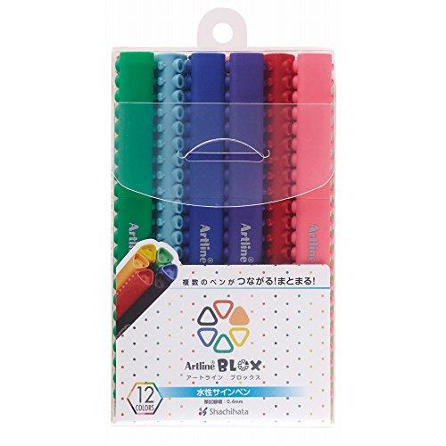 シャチハタ BLOX サインペン 水性 12色セット KTX-200/12W