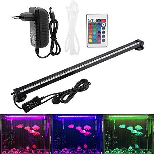 Zerodis LED Aquarium Light Sommergibile Bolla di Acquario Bubble Light con Telecomando Subacqueo Lampada a LED Colorata per Kit Luce Acquario(46cm)
