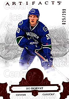 (CI) Bo Horvat Hockey Card 2017-18 UD Artifacts Red 58 Bo Horvat