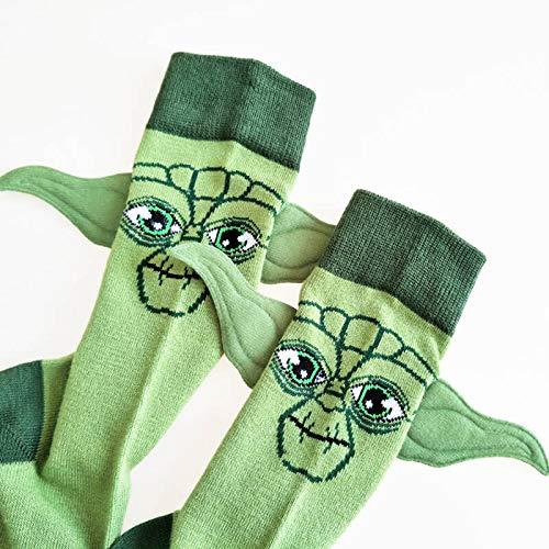YHK Baby Ears Socks, Yoda Baby Socks 3D Adult Green Socks