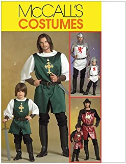 McCall's Patterns M5500 Men's/Children's/Boys' Knight, Prince and Samurai Costumes, Size Kid [(3-4) (5-6) (7-8)]