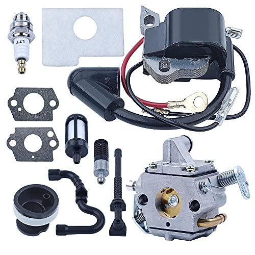 SYCEZHIJIA Kit de colector de admisión de Bobina de Encendido de carburador de bujía para Stihl MS170 MS180 170180 Piezas de Motosierra 1130120 0608 1130400130 (Color : China)