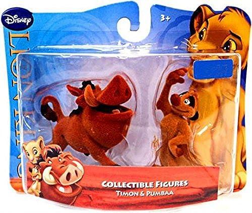Disney Lion King Exclusive Flocked Mini Figure 2Pack Timon Pumbaa