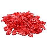Luntus 100 Piezas Desechable Peluquería Orejeras Cubierta de Oreja Clara Para Salón Protección Para Oreja Tapa de Tinte Para El Cabello Herramienta de Peinado Del Color de Pelo Rojo