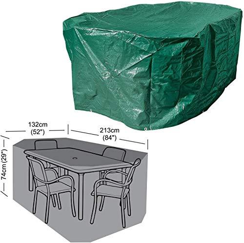 HUFT-Abdeckung wasserdichte Abdeckung für Garten-Terrassenheizungen im Freien - H122 x T61 cm, Tischabdeckung - 213 x 132 x 74 cm
