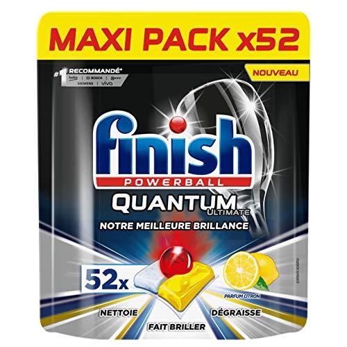 Finish Pastilles Lave-Vaisselle Powerball Quantum Ultimate Citron - 52 Tablettes Lave-Vaisselle
