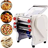 Minneer Electric Automatic Pasta Maker Machine with Stainless Steel Noodle Dough Roller for Pasta and Dumpling etc(Width 160mm)