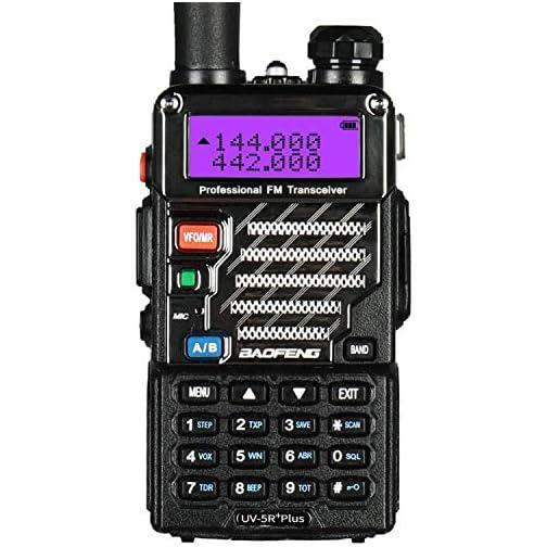 BaoFeng UV-5R Plus Dual-Band 136-174/400-480 MHz FM Ham Two-Way Radio (Black) 3