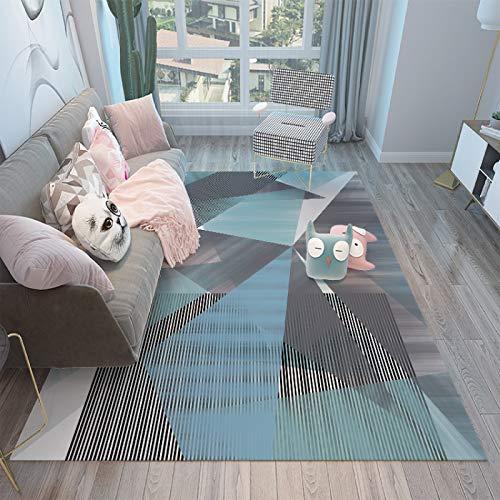 QWEASDZX Carpet Simple Living Room Coffee Table Carpet Wild Bedroom Full Bedside Carpet Non-Slip Mat Machine Washable Living Room Carpet 50x80cm