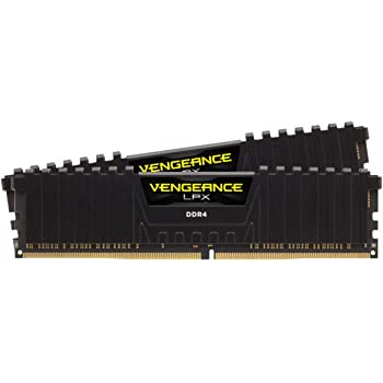 Corsair Vengeance LPX 16GB (2 X 8GB) DDR4 3600 (PC4-28800) C18 1.35V Desktop Memory - Black