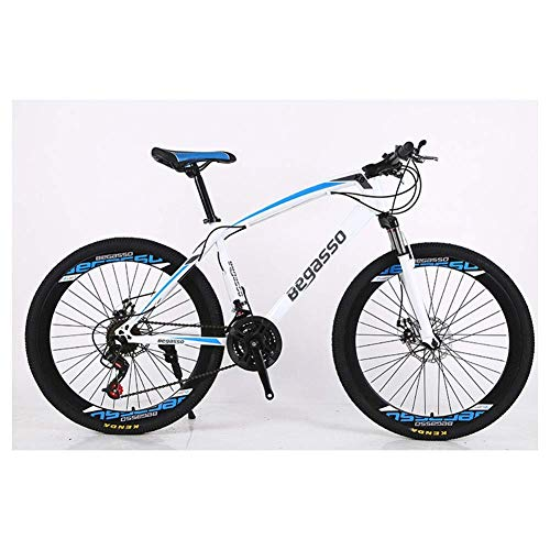 YELLAYBY Mountaineering Outdoor Sports 26' Mountain Bicycle, HighCarbon Steel Frame Mountain Trail Bike, Hardtail Mountain Bike with Dual Disc Brake, 2130 Speeds Outdoor Bike Children's Gift