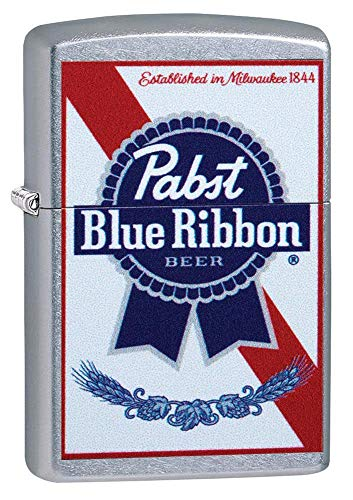 Zippo Street Chrome Pabst Blue Ribbon Pocket Lighter