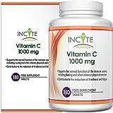 [page_title]-Vitamin C 1000mg | 180 Premium-Tabletten (6 Monatsbedarf) | Hochdosierte Qualitäts-Ascorbinsäure | Geeignet für Vegetarier & Veganer| Hergestellt in Großbritannien von Incite Nutrition®