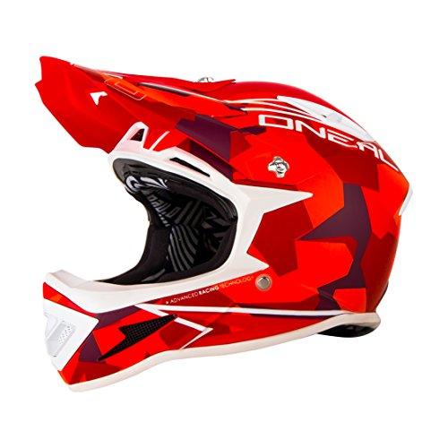 O'Neal Warp Fidlock Downhill Helm Edgy Camo Rot, 0615C-6, Größe XL (61 - 62 cm)