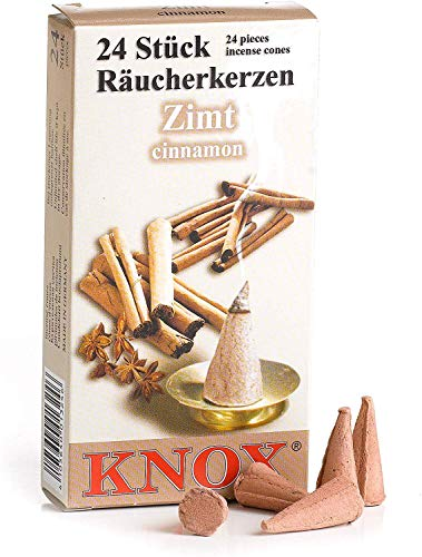 Knox Cinnamon Scent German Incense Cones Made in Germany for Christmas Smokers