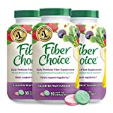 Fiber Choice Daily Prebiotic Fiber Chewable Tablets, Sugar-Free, #1 Gastroenterologist Recommendedⱡ, Helps Support Regularity*, Prebiotic Fiber Helps Support Immune Function*, 90 Count (3 Pack)