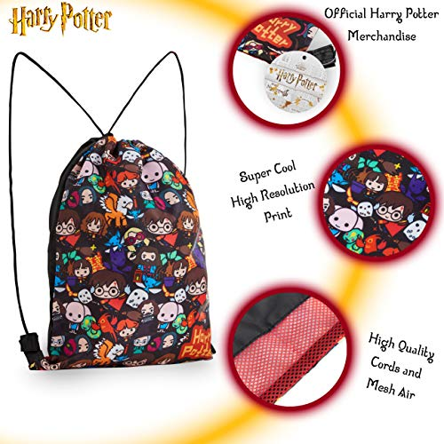 Harry-Potter-Drawstring-Bags-Chibi-Character-Small-School-Or-Travel-Bag-For-Boys-Or-Girls-Lightweight-String-Backpack-For-Gym-PE-Kit-Football-Shoes-Swimming-Sports-Gift-Idea-For-Kids-And-Teens