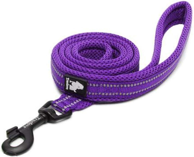 Pet Leash, Suitable for Dogs Between 10kg50kg, Oxford Cloth + Breathable mesh Fabric pet Leash, Professional pet Leash, 6, 6 colors Available (color   Purple, Size   M)