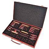 UnfadeMemory Kit de Herramientas de Reparación Rosca Bujía Incandescente M8 M9 M10 M12,63 pzas