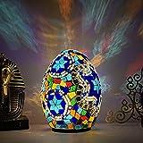 YAYONG Lámpara De Mesa LED Lamparas De Mesita De Huevo Características De Egipto para Dormitorio, Sala De Estar, Baño, Iluminación De Tocador, Decoración De Pasillo