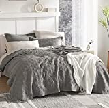 Bedsure Gray Bedspreads Queen Size - Queen Quilt Bedding Set, 120GSM Embossed Cationic Dyeing Coverlet, 3 Pieces (90x96 inches)