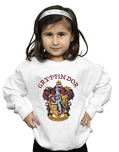 Harry Potter Mädchen Gryffindor Crest Sweatshirt Weiß 9-11 Years