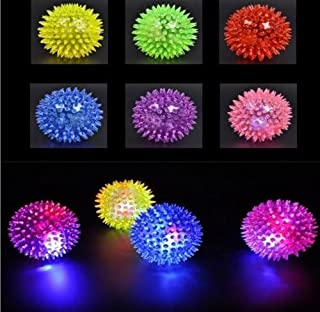 Mini Elastic Light-up Spike Ball with LED flash light up for fun/Games (6 pcs)