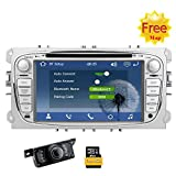Eincar 2 din Wince syst¨¨me DVD de Voiture GPS pour Ford Mondeo Focus S-Max 2007 2008 2009 2011 2013 Stereo Dash Radio Navigation GPS Headunit 3G WiFi Hotpots 7inch r¨¦cepteur St¨¦r¨¦o ¨¤ ¨¦Cran tac