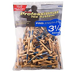 Pride Professional Tee System, 3-1/4 inch ProLength Plus Tee, 135 count, Natural