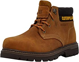 Caterpillar Men's Outbase Waterproof Steel Toe Work Boot, Brown, 12 W US