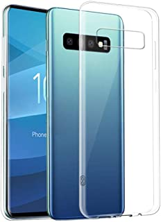 ❤Waymine Compatible Samsung Galaxy S10 Plus, Clear Slim Thin Non-Slip Back Hybrid Hard Case Cover(The Cellphone not Included)