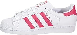 adidas Originals Superstar, Basket, Blanc, Rose véritable, 19 EU