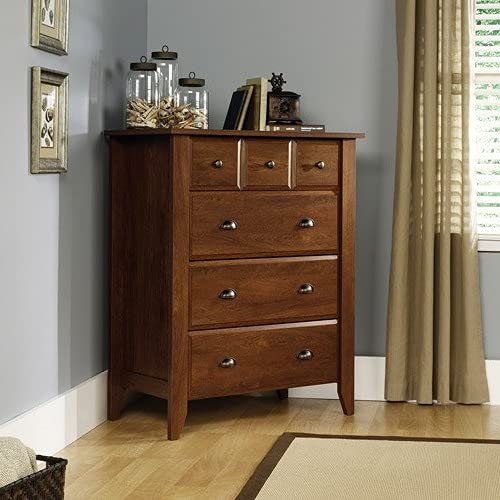 Dressers & Chests of Drawers-4Drawer Chest Dresser, Oiled Oak-Practical Storage Organizer for Your Belongings