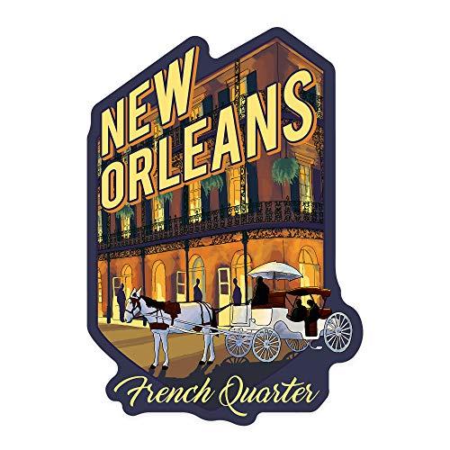 New Orleans, Louisiana - French Quarter - Alt Contour 93382 (Vinyl Die-Cut Sticker, Indoor/Outdoor, Large)