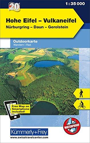 Hohe Eifel - Vulkaneifel Outdoorkarte Deutschland Nr. 20: 1:35 000, Mit kostenlosem Download für Smartphone
