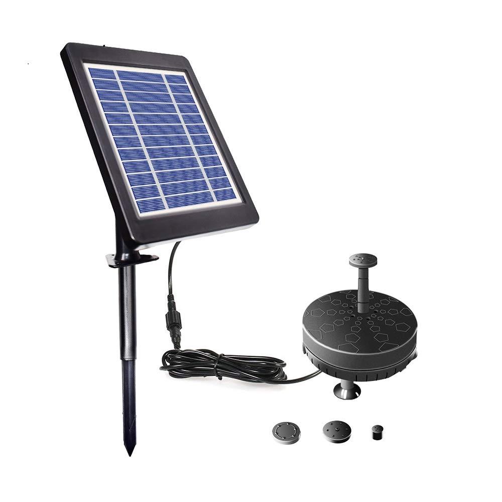 Bomba Solar para Fuentes, 3.5W Bomba de la Fuente del baño Solar Lindo, Panel Derecho