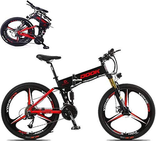 Bicicleta Eléctrica Plegable Bicicleta eléctrica de nieve, 26 en bicicleta eléctrica plegable para adultos con 250W36V8A batería de litio aleación de aluminio de 27 velocidades E-bicicleta e-bicicleta