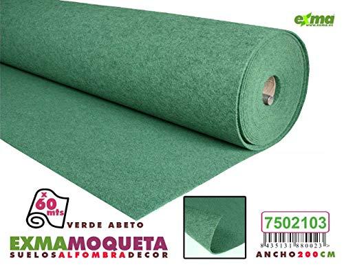 Exma Moqueta Verde Ancho 2mts
