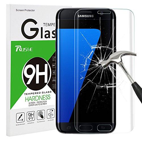 Rusee Galaxy S7 Edge Panzerglas Schutzfolie, 9H Härtegrad 3D HD Ultra Klar Anti-Kratzer Panzerglasfolie Hartglas Gehärtetem Glas Displayschutzfolie Displayschutz für Samsung Galaxy S7 Edge