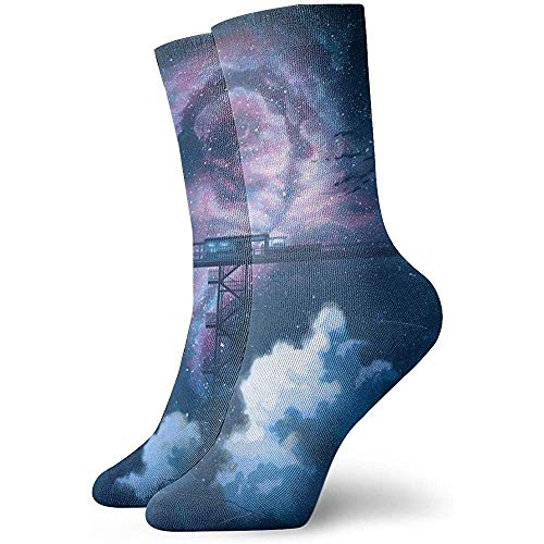 ulxjll Lange Socken Landschaftlich Bequeme Crew Socken Cosplay Kalbsocken 30Cm Outdoor Arbeit Leichte Neuheit Lustig Unisex Gedruckt Langlebig