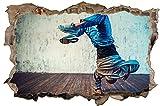 Breakdance Tanzen HipHop Wandtattoo Wandsticker Wandaufkleber D0919 Größe 70 cm x 110 cm