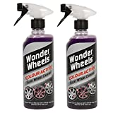 2 x Wonder Wheels Colour Active Super Wheel Cleaner 600ml - With Colour