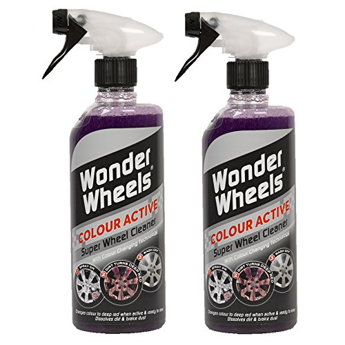 2 x Wonder Wheels Colour Active Super Wheel Cleaner 600ml - With Colour Changing Technology