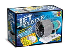 Build your own fully functional model of a two-spool turbo fan engine with jet engine sounds Includes detailed step-by-step instructions Includes everything you need to build your own engine Adult supervision recommended Required 3x AA batteries