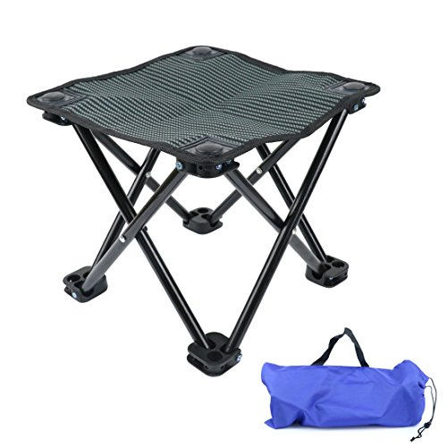 Idepet Klapphocker Camping-Hocker Folding Chair Mini Portable Hocker für BBQ,Camping,Angeln,Reise, Wandern, Garten, Strand,Oxford-Tuch mit Tragetasche MEHRWEG