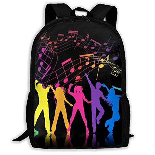 Colorful Music Note Print Adult Backpack Laptop for Adults,Older Children